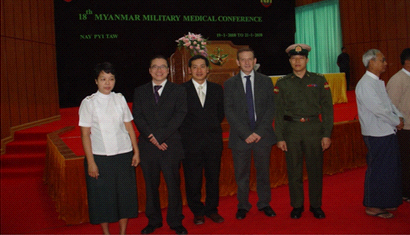 Hội nghị tại Myanmar 18th Military Myanmar Medical Conference, Pre-Conference Worhshop on Laparoscopic Surgery (01/01/2010)